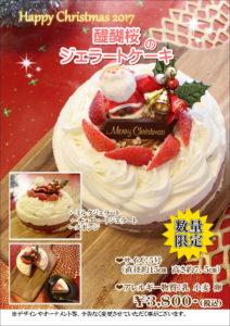 2017クリスマスケーキ